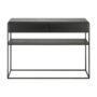 oak monolit black console with 2 drawers