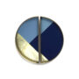 geometric mini glass and metal half moon tray